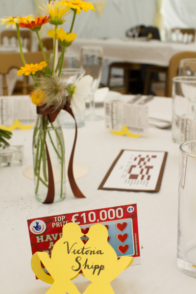 Wedding favours - scratchcards