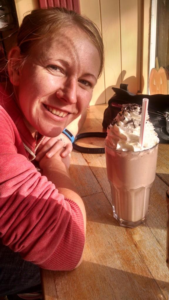 Birthday chocolate icecream milkshake