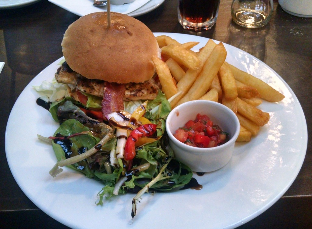 Chicken burger at Beckworth Emporium