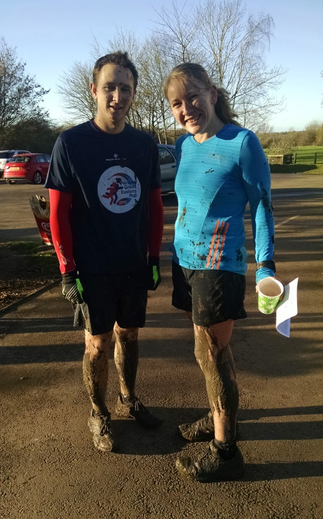 Mud and mayhem on the Christmas Eve run - Tom and Me