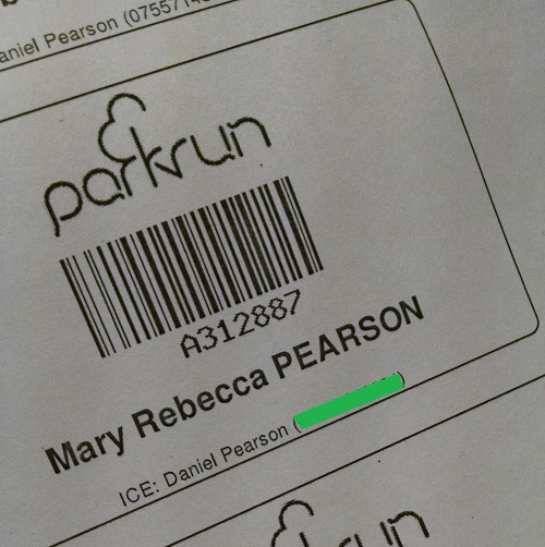 parkrun ICE number
