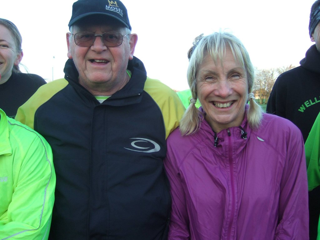 Sally and Paul 100th parkrun at Northampton