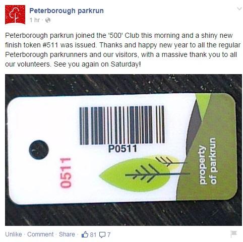 500 parkrunners at Peterborough parkrun