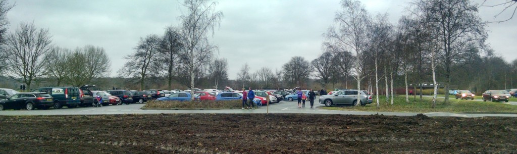 Car park at Peterborough parkrun
