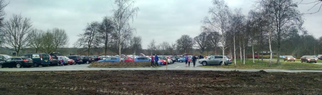 Car park at Peterborough parkrun