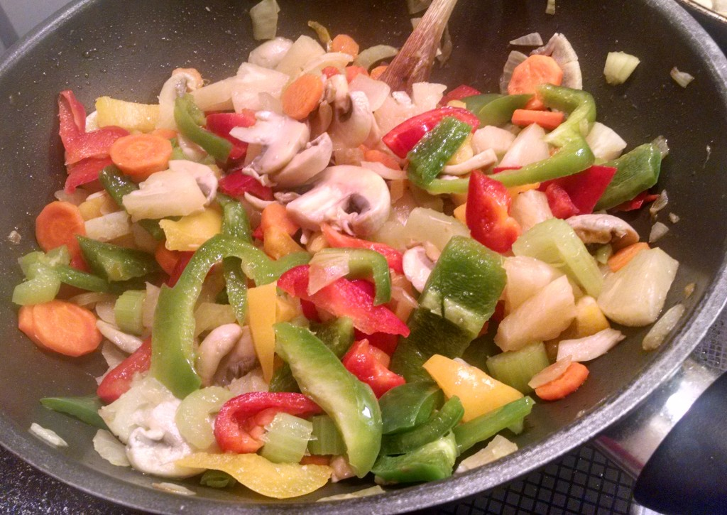 Colourful veg for a stir fry