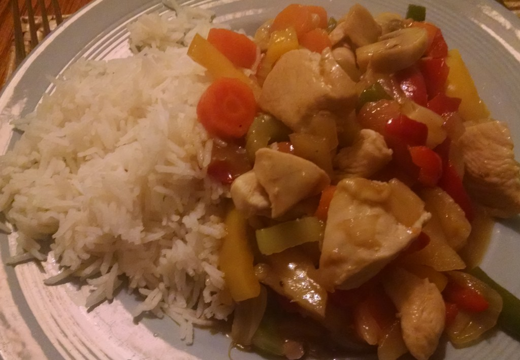 Stir fry with rice