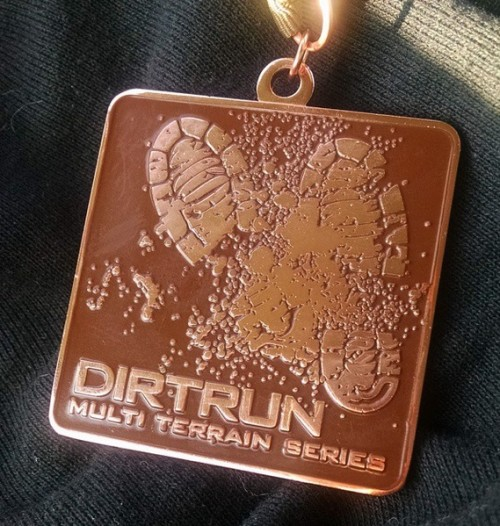 Wellingborough multi-terrain dirt run medal