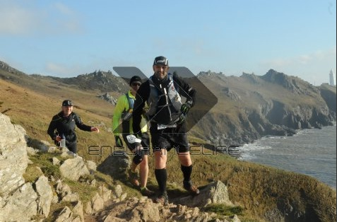All three of us at EnduranceLife South Devon marathon