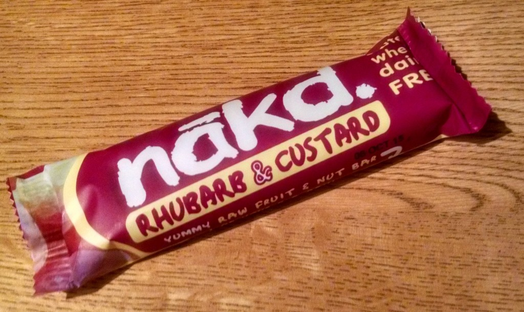 Rhubarb & custard nakd bar