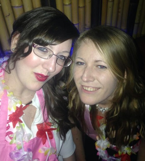 Vick and Me at her hen do