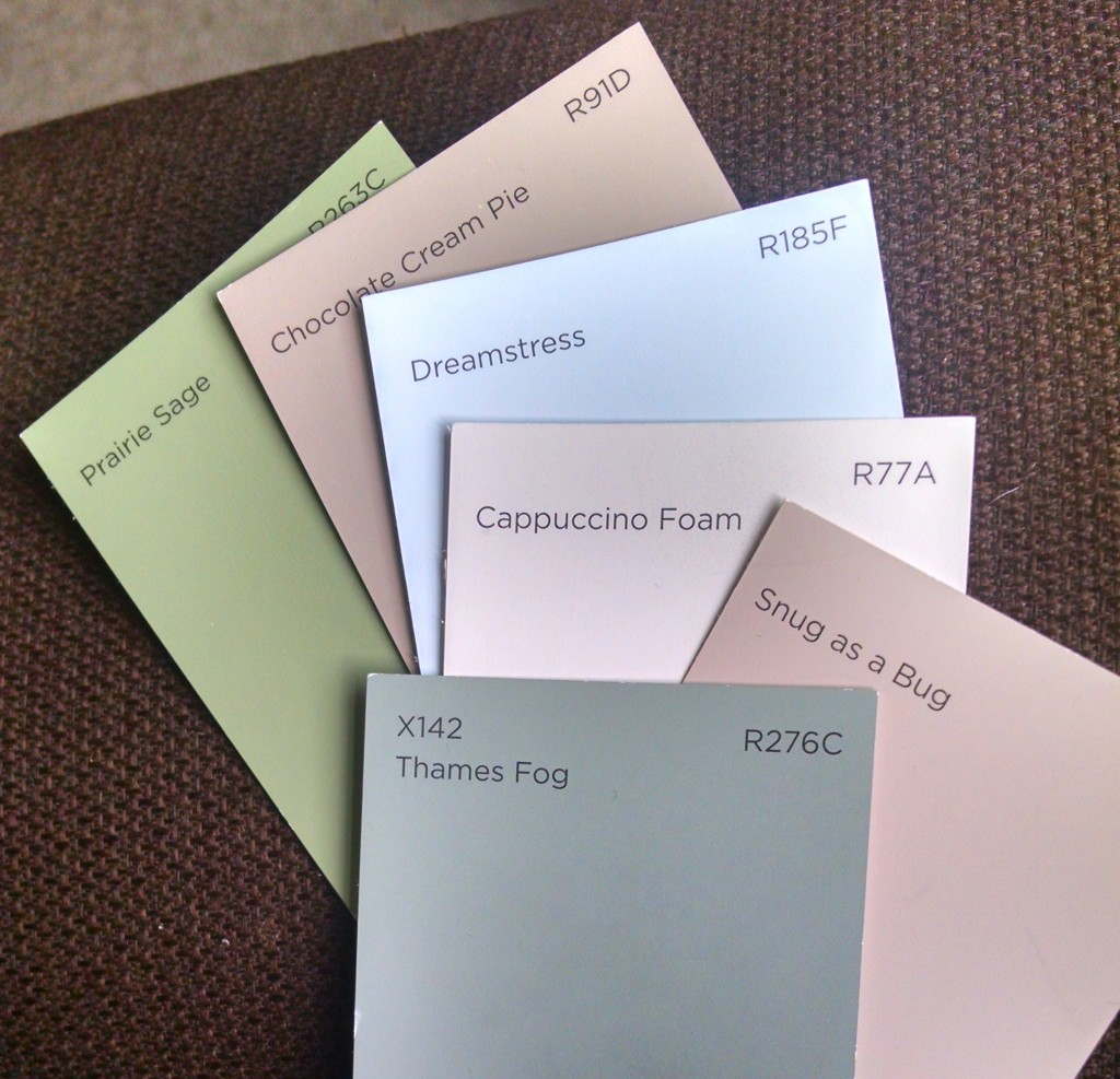 Paint colour cards