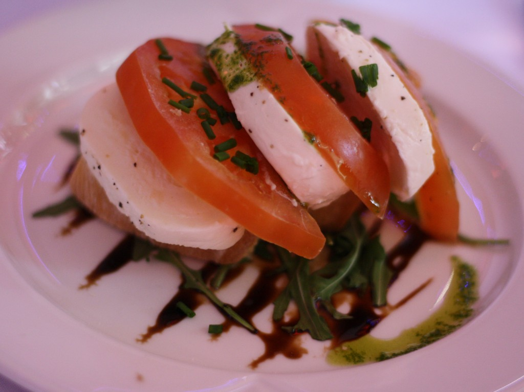 Caprese salad at Vicki's wedding