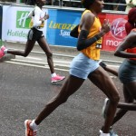 Elite women at the London marathon