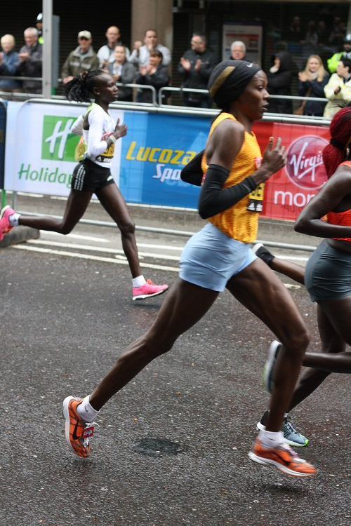 Elite women at the London marathon