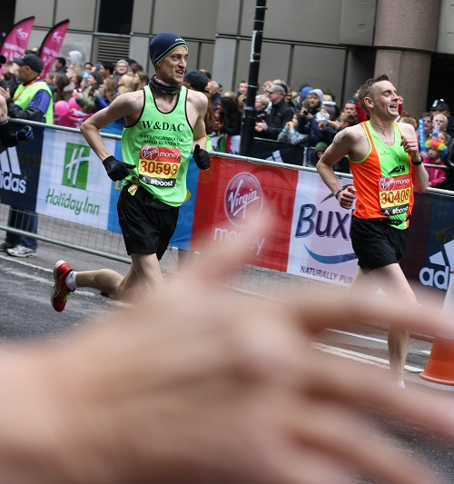 Jon at London marathon
