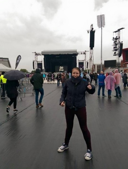 Wet and rainy at Foo Fighters gig in Manchester