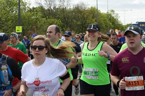 Milton Keynes marathon start line