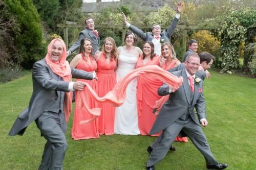 Wedding party at Vicki's wedding