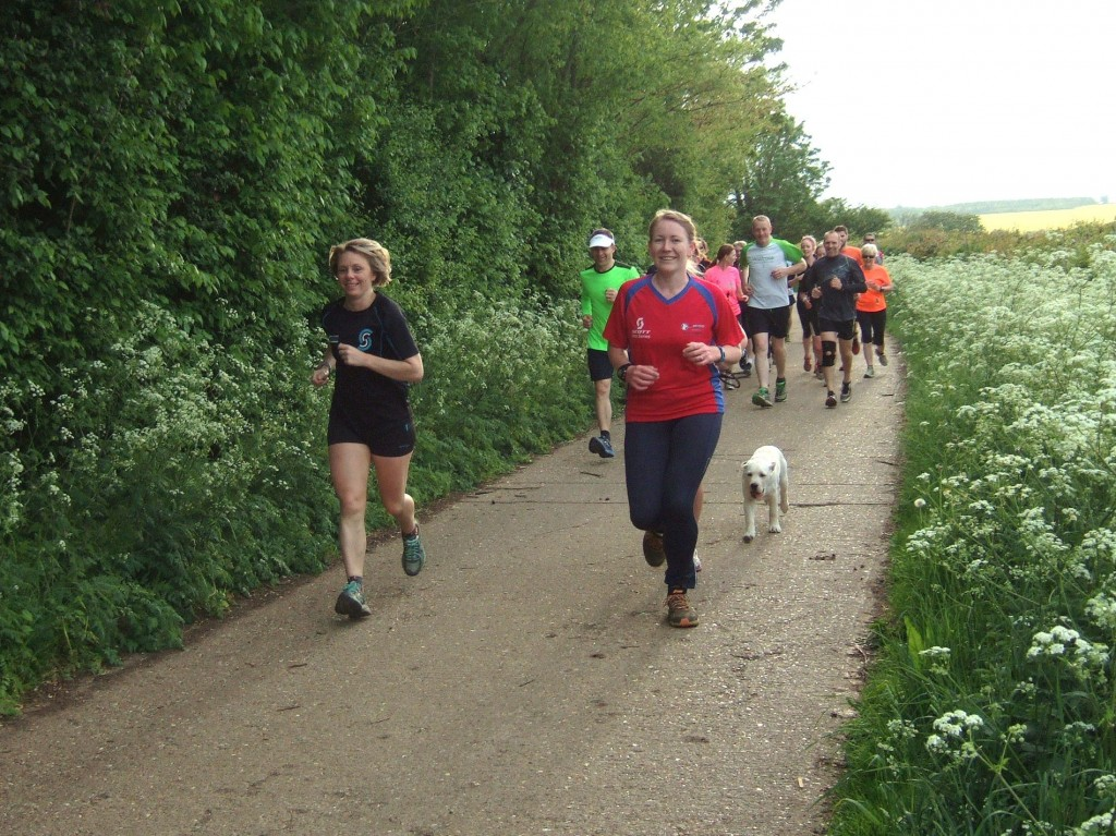 My trail run in Raunds