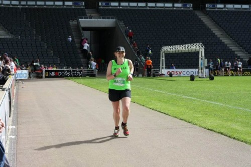 Milton Keynes marathon stadium finish