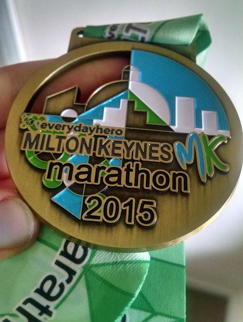 Milton Keynes marathon medal 2015
