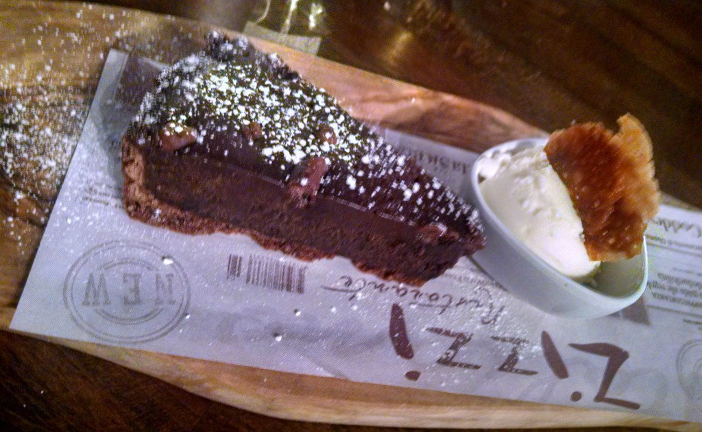 Zizzi chocolate tart