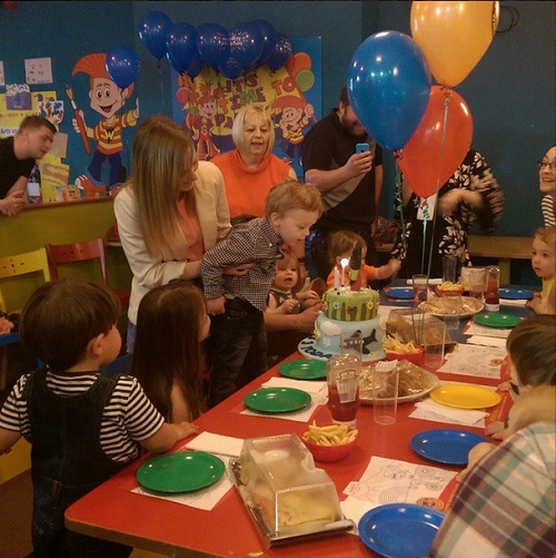 Jenson's third birthday