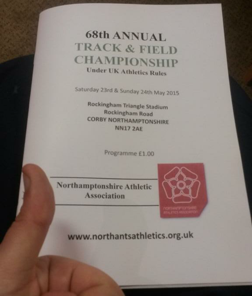 Northamptonshire Track and Field programme