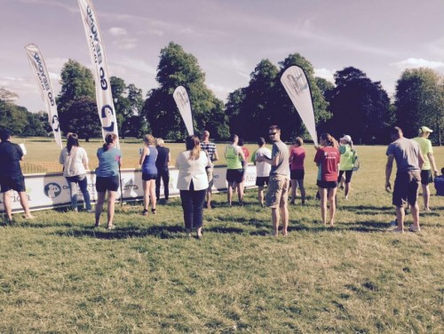 Shires and Spires 35m trail race finish