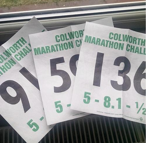 Colworth marathon challenge numbers