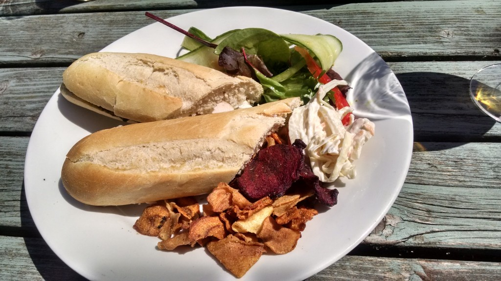 Samuel Pepys, Northamptonshire. Chicken and pesto baguette
