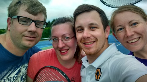 Vicki, Alex, Dan and I at tennis