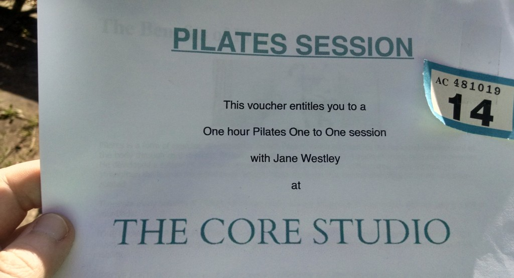 Pilates win in the raffle