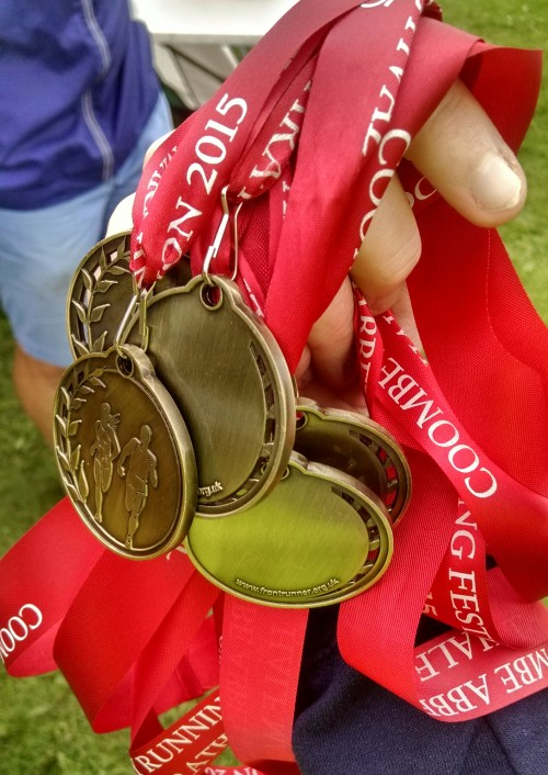 Go Beyond Coombe Abbey running festival medals