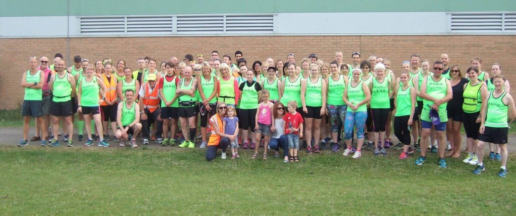 Wellingborough club group shot before the Welly 5 BBQ