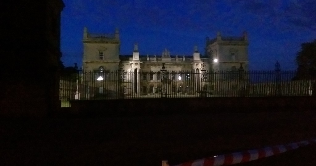 Grimsthorpe Castle at night