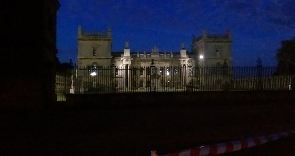 Grimsthorpe Castle at night