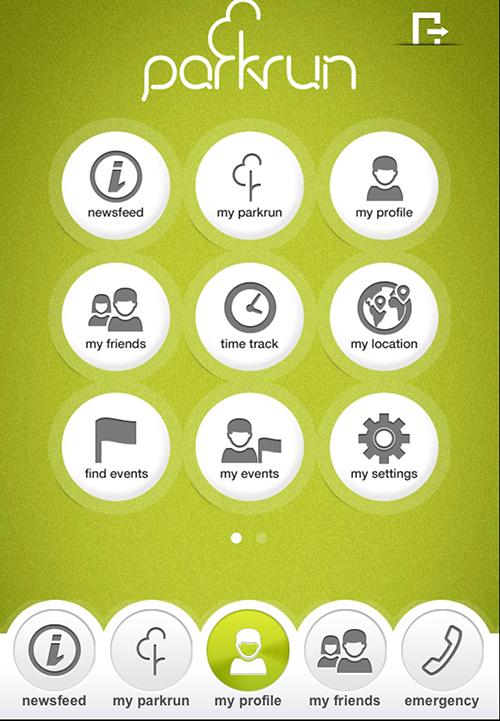 parkrun app for iPad