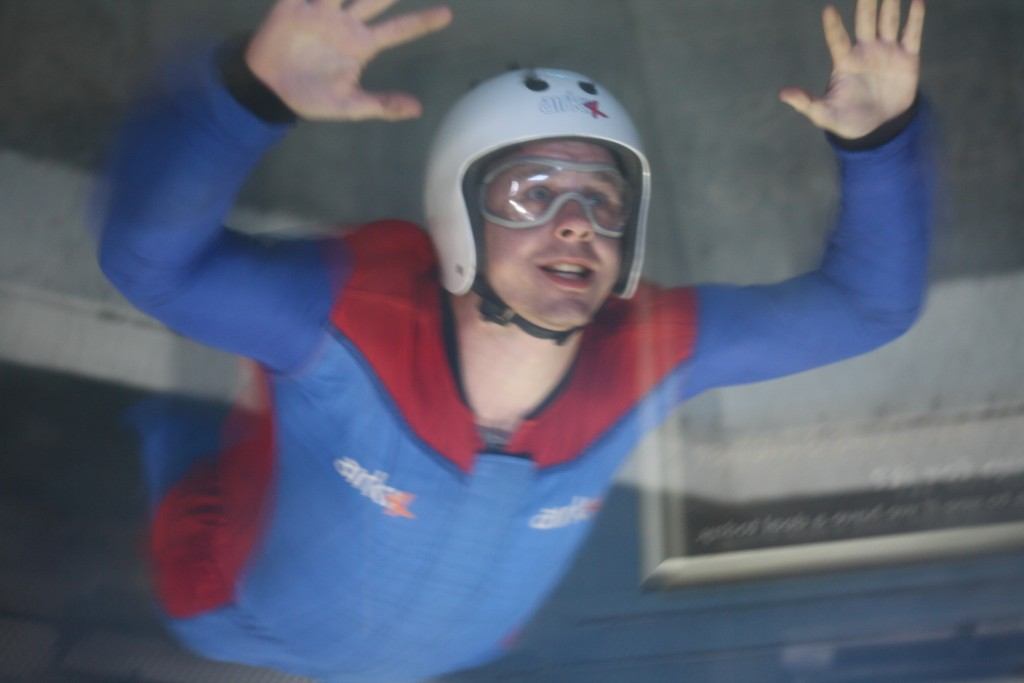 Indoor skydiving at AirKix in Milton Keynes
