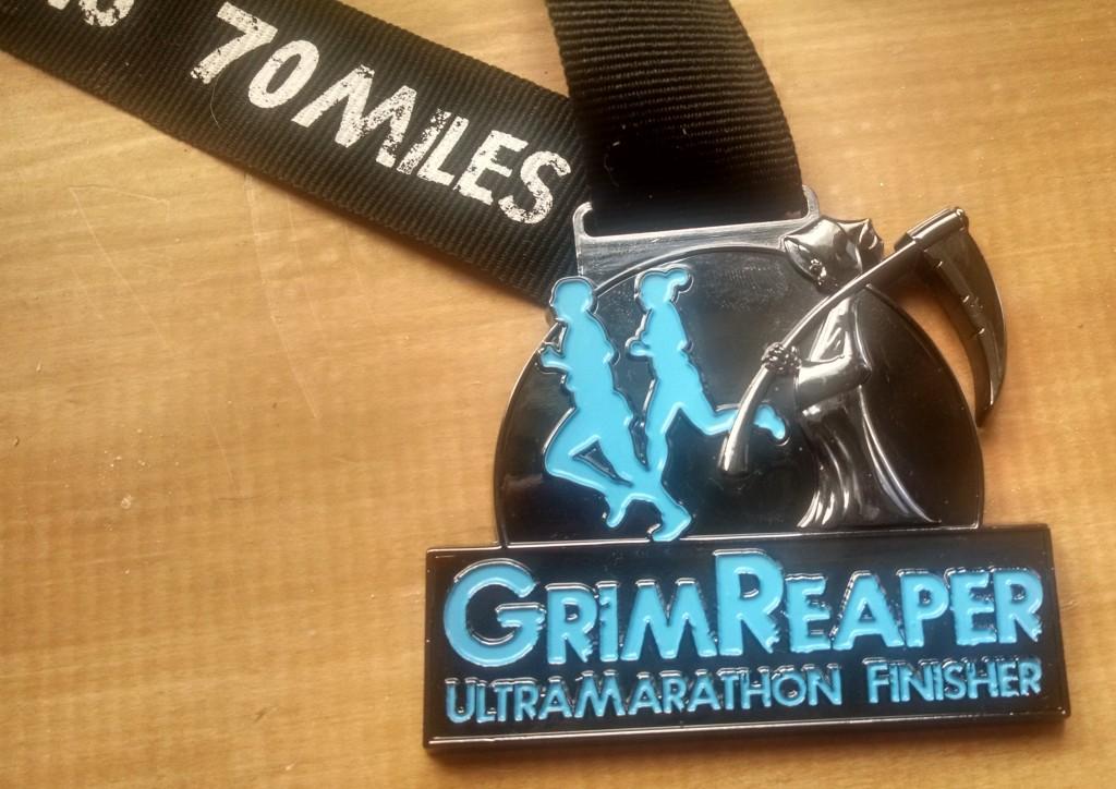 Grim Reaper 70m ultramarathon medal