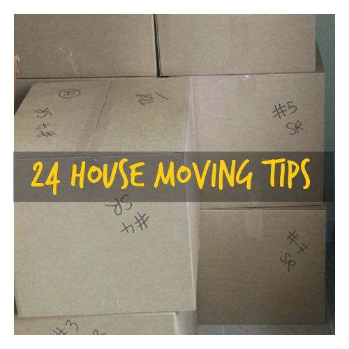 24 House moving tips