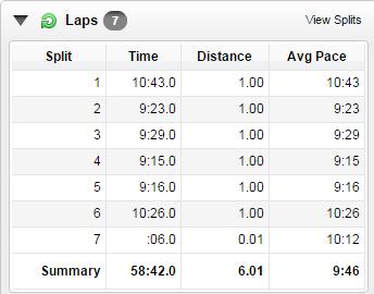 6 miles of speedwork