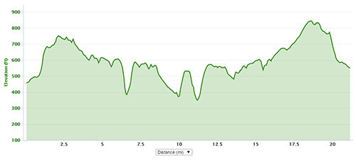 Dunstable Downs elevation profile