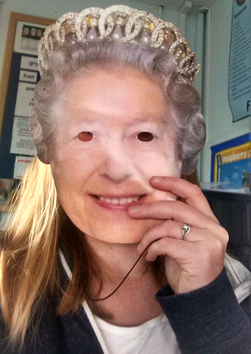 Me dressed up as The Queen