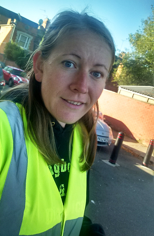 Marshaling at Northampton parkrun