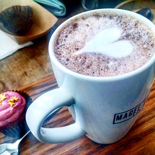 Hot chocolate at Magee Street Bakery in Northampton