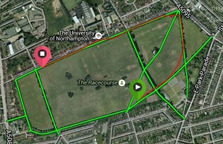 Northampton parkrun satellite fail