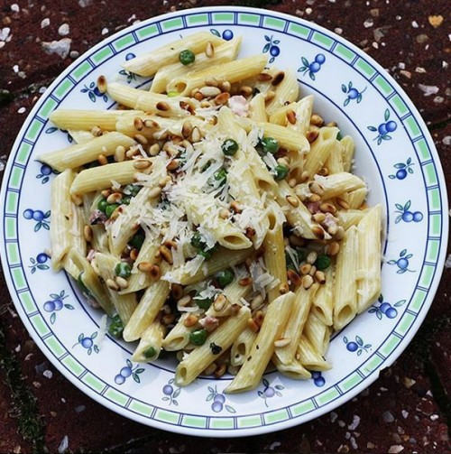 Refreshing Pasta with peas, pancetta and mint (Hello Fresh)