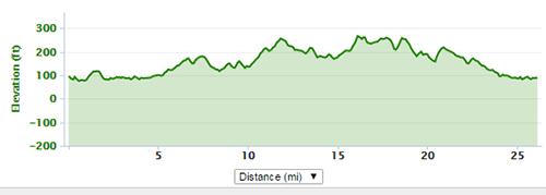 Chelmsford Marathon undulation